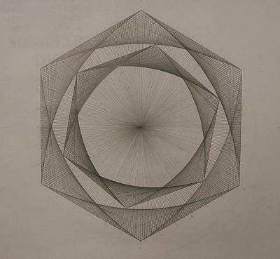 Abstract Realism Drawing - Solar Spiraling by Jason Padgett
