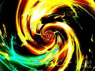 Fantasy Digital Art - Solar Tornado by Elizabeth McTaggart