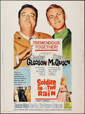 Jackie Gleason Photograph - Soldier In The Rain, Top From Left by Everett