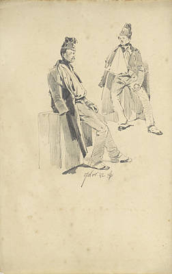 Loon Drawing - Soldier With Arm In Sling, Pieter Van Loon by Quint Lox