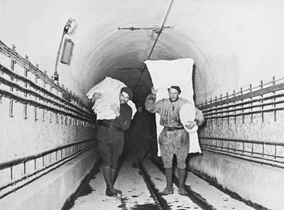 Soldiers On The Maginot Line Print by Underwood Archives