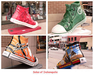 Mens Shoe Photograph - Soles Of Indianapolis by David Bearden