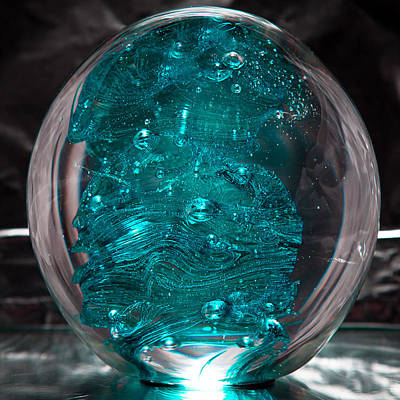Paperweight Sculpture - Solid Glass Sculpture Rb1 by David Patterson