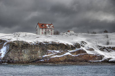 Red Roof Photograph - Solitary by Crystal Fudge