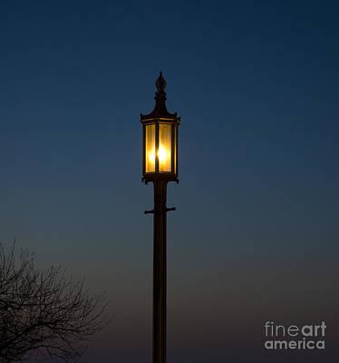 Solitary Gas Light Print by Tim Mulina