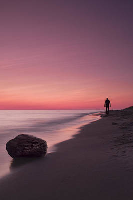Rock Photograph - Solitary Stroll by Andrew Soundarajan