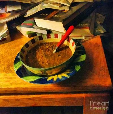 Solitary Supper Print by RC DeWinter