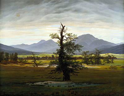 Caspar Painting - Solitary Tree by Caspar David Friedrich