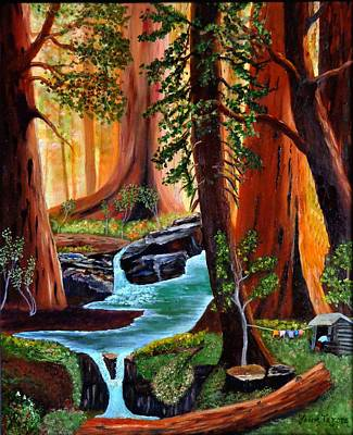 Solitude In The Rocky Mountains Print by Janis  Tafoya