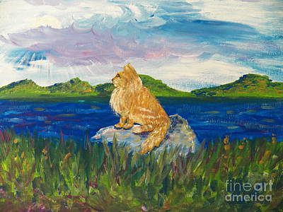 An Island Painting - Solitude by Judy Via-Wolff