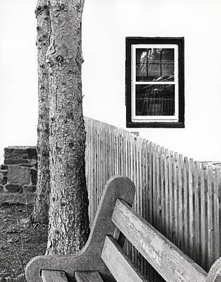 Window Bench Photograph - Solitude by Steven Huszar