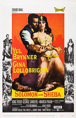 Solomon And Sheba, Us Poster, Yul Print by Everett