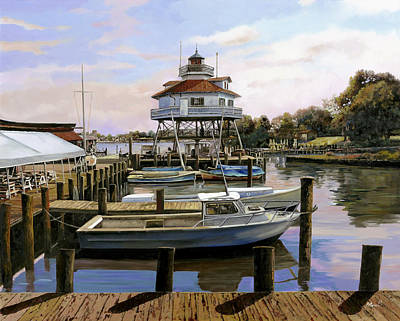 Maryland Painting - Solomon's Island by Guido Borelli