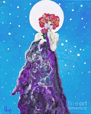 Goddess Painting - Solstice Sweetheart by Alys Caviness-Gober