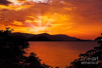 Evening Digital Art - Som Island Sunset by Adrian Evans