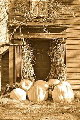 Some Big Pumpkins Print by Robin Regan