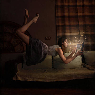 Levitation Photograph - Some Books Can Fly You Away by Anka Zhuravleva
