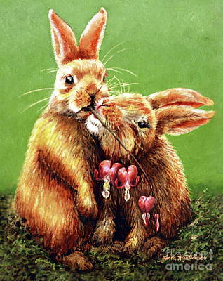 Rabbit Painting - Some Bunny Loves You by Linda Simon