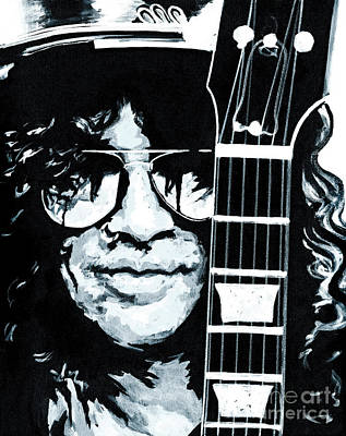 Velvet Revolver Painting - Some Cool Guitar Player- Slash by Tanya Filichkin