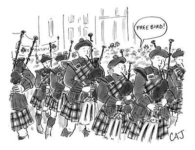 Someone Shouting Freebird At A St. Patrick's Day Print by Carolita Johnson