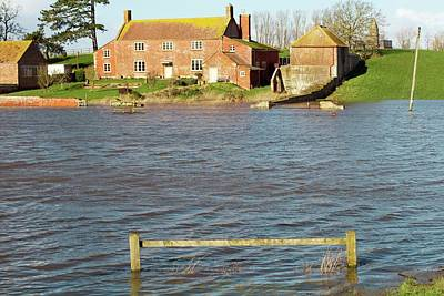 Somerset Levels Floods Print by David Woodfall Images