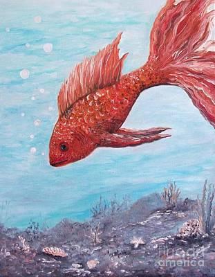 Something Is Fishy Print by Rhonda Lee