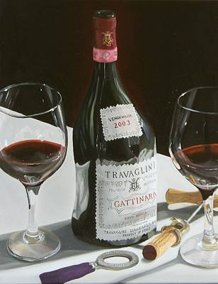 Wine Bottle Painting - Something Special by Brien Cole