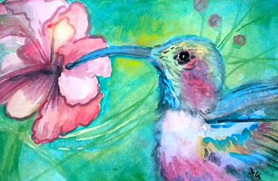 Pople Painting - Something's Humming by Debi Starr