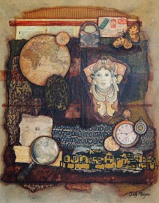 Handmade Paper Mixed Media - Somewhere In Time by Candy Mayer