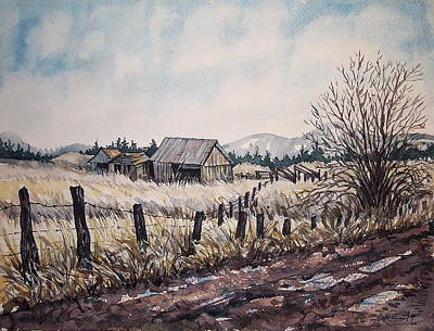 Somewhere Out West  Print by Lynne Haines