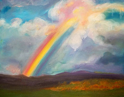 Painting - Somewhere Over The Rainbow by Anne Cameron Cutri