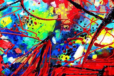 Abstract Expressionism Painting - Somewhere Over The Rainbow  II    Cropped Version  by John  Nolan