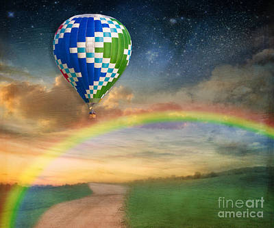 Starfield Photograph - Somewhere Over The Rainbow by Juli Scalzi