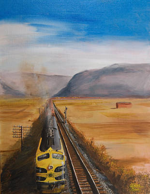 Railroad Painting - Somewhere West Of Corning by Christopher Jenkins