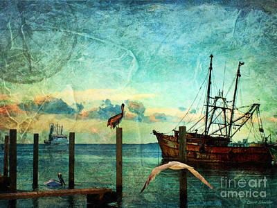 Somewhere...beyond The Sea Print by Lianne Schneider