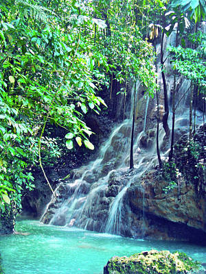 Sommerset Falls Jamaica Print by Carey Chen