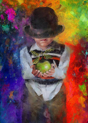 Giving Painting - Son Of Magritte by Christopher Lane