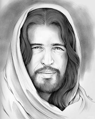 Redeemer Drawing - Son Of Man by Greg Joens