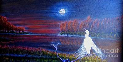 Song Of The Silent Autumn Night Print by Kimberlee Baxter