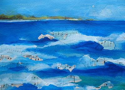 Jeannine Painting - Song Of The Waves by Jeannine Clesie