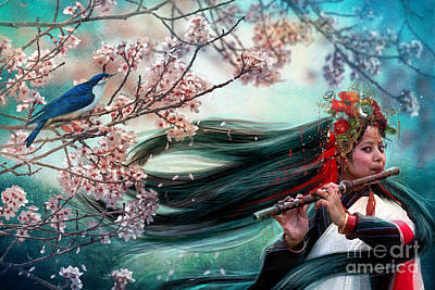 Oriental Woman Photograph - Songbird by Aimee Stewart
