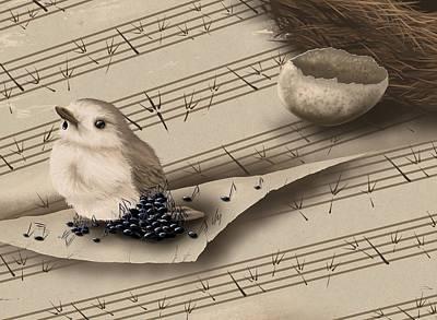 Digital Painting - Songbird by Veronica Minozzi