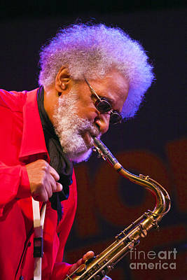 Sonny Rollins On Sax Print by Craig Lovell