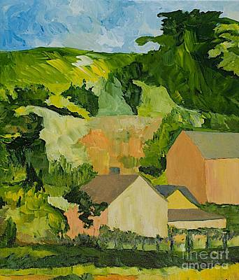 Nature Painting - Sonoma Home by Allan P Friedlander
