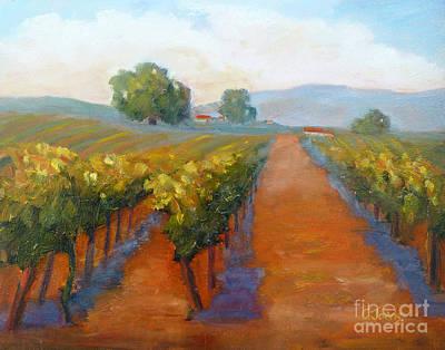 Sonoma Vineyard Print by Carolyn Jarvis