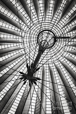 Black Commerce Photograph - Sony Centre Berlin by Rod McLean