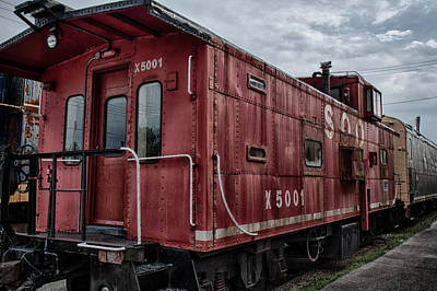 Train Depot Photograph - Soo Caboos by Mike Burgquist