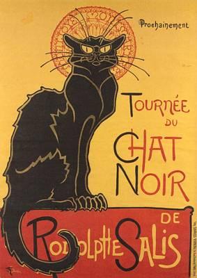 Noir Digital Art - Soon The Black Cat Tour By Rodolphe Salis  by Tracey Harrington-Simpson