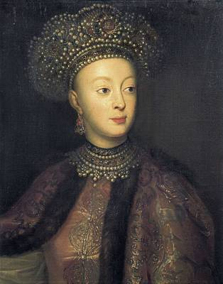 Sophia 1657-1704. Oil On Canvas Print by Everett