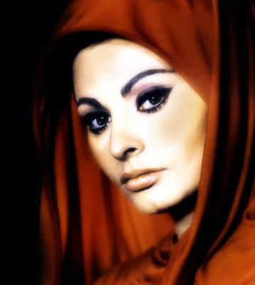 Sophia Loren Print by Georgiana Romanovna
